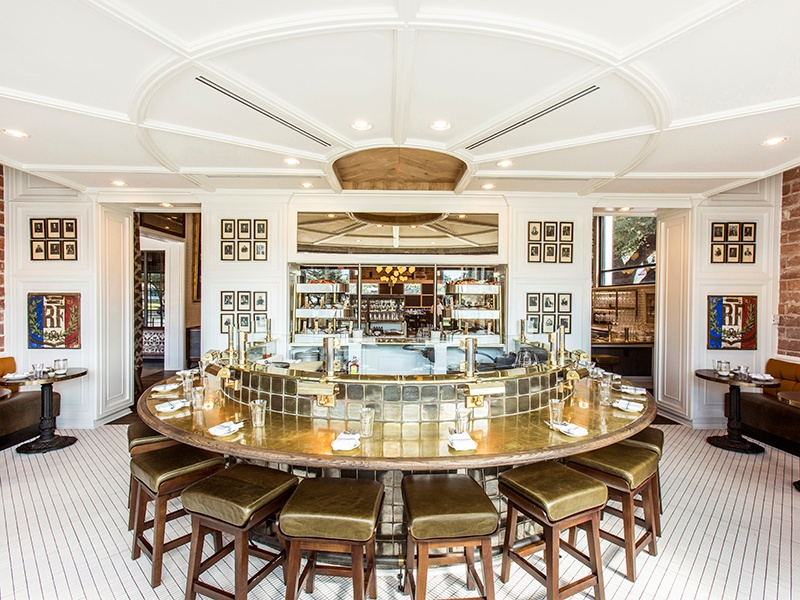 The State of Grace restaurant in Houston, run by James Beard Award-winning chef Ford Fry, was conceived as an elegant country hunting haus.