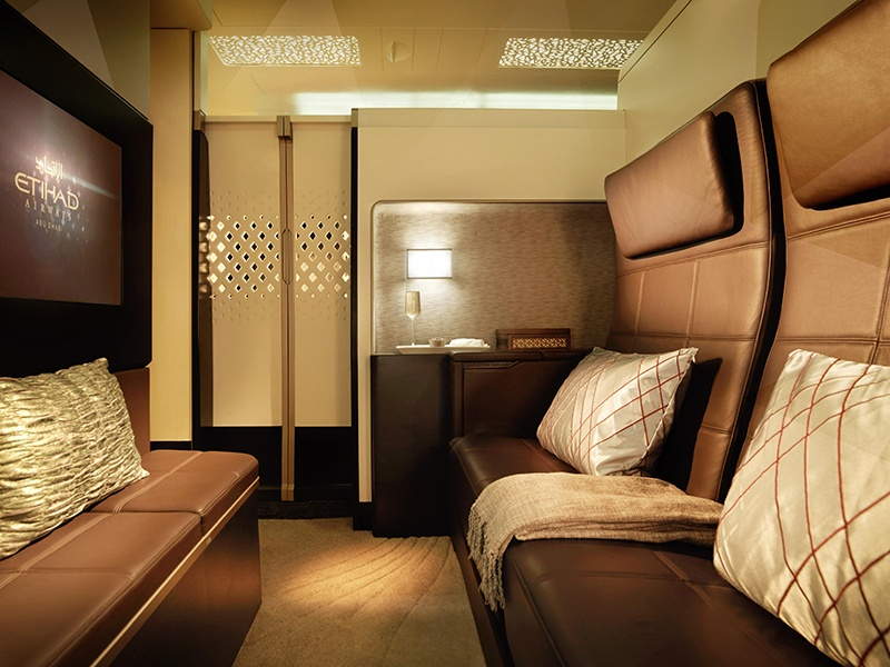The Airbus A380, used by commercial passenger airlines such as Etihad, can be customised to individual requirements.