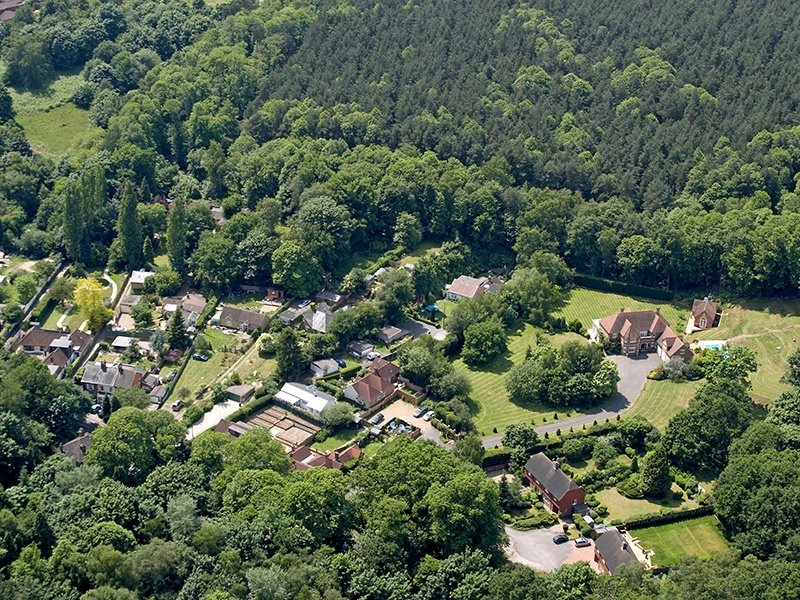Some of Virginia Water's most exclusive addresses can be found on the Wentworth Estate and nearby Callow Hill (pictured). Photograph: Alamy