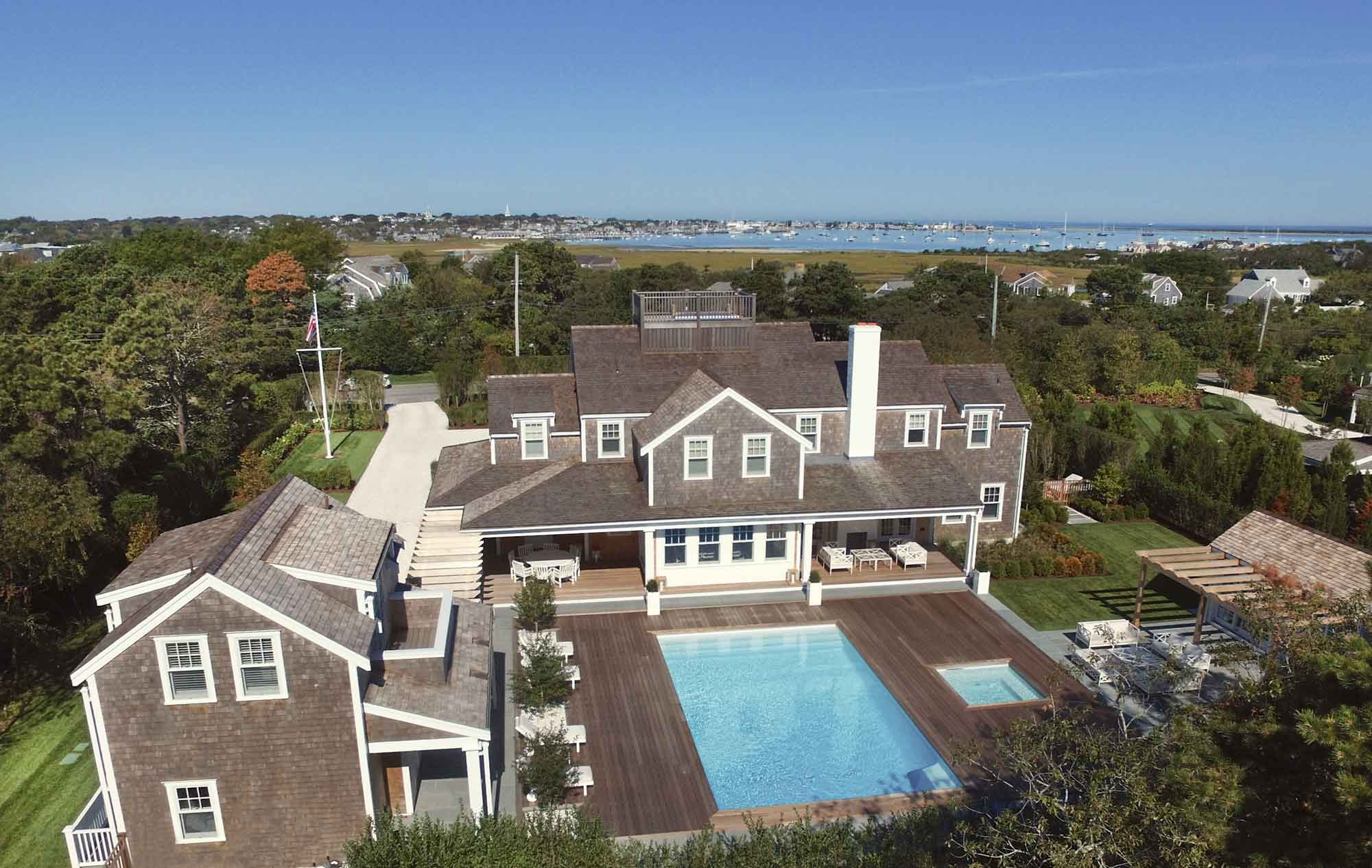 This exceptional Nantucket Monomoy estate is an eco-friendly compound designed with a rich palette and constructed with the finest building materials.