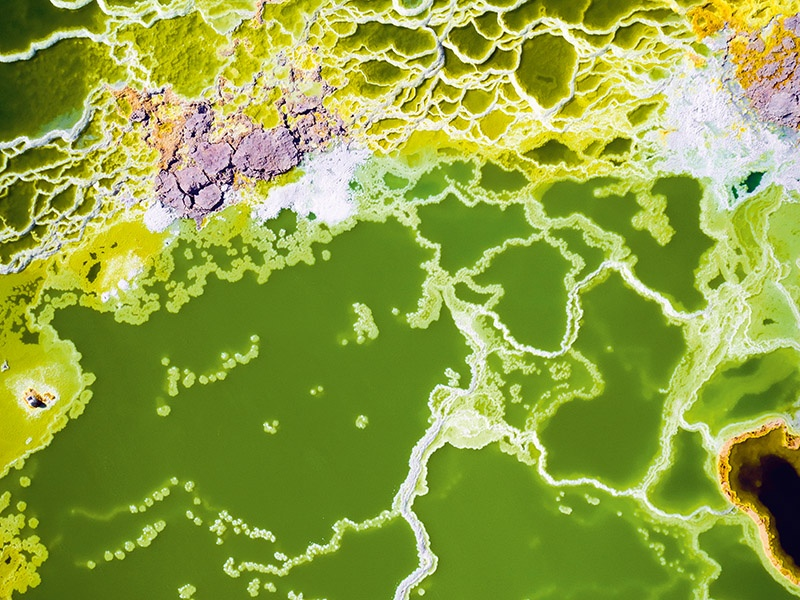 In <i>Toxic Terrain</i>, Tugo Cheng highlights the patterns created by acidic sulphur pools in Ethiopia.
