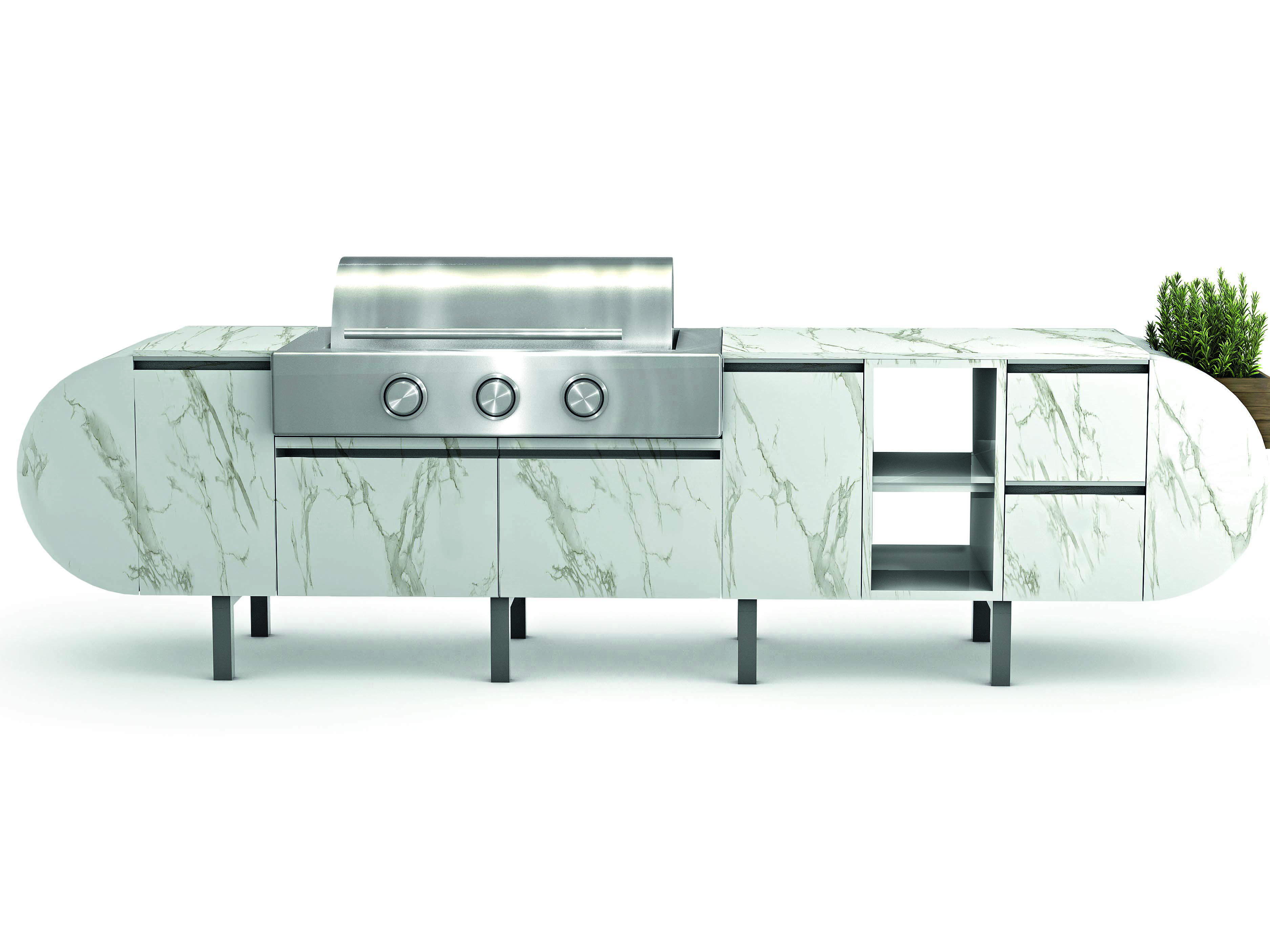 The ASA-D2, by Daniel Germani in partnership with Brown Jordan Outdoor Kitchens, is an innovative modular outdoor kitchen that works in any setting.