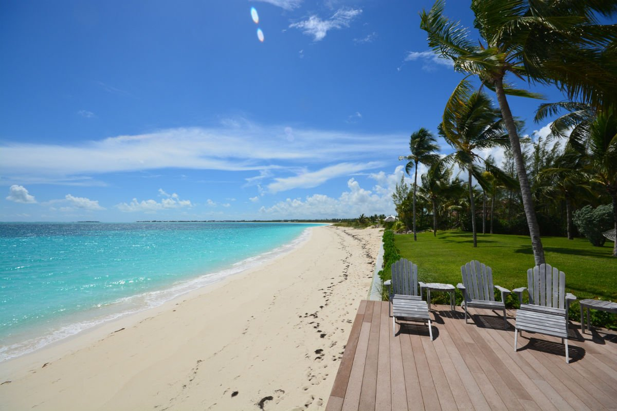 This tropical hideaway is one of the finest beachfront estates in Treasure Cay.