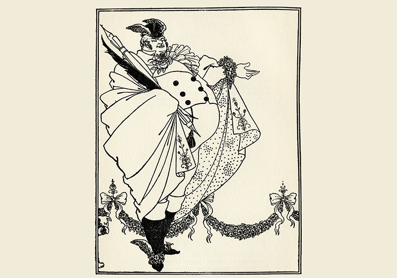 An illustration by Aubrey Beardsley for the first edition of <i>The Savoy</i>, a literature, art, and criticism magazine that ran in London during 1896. Photograph: Shutterstock
