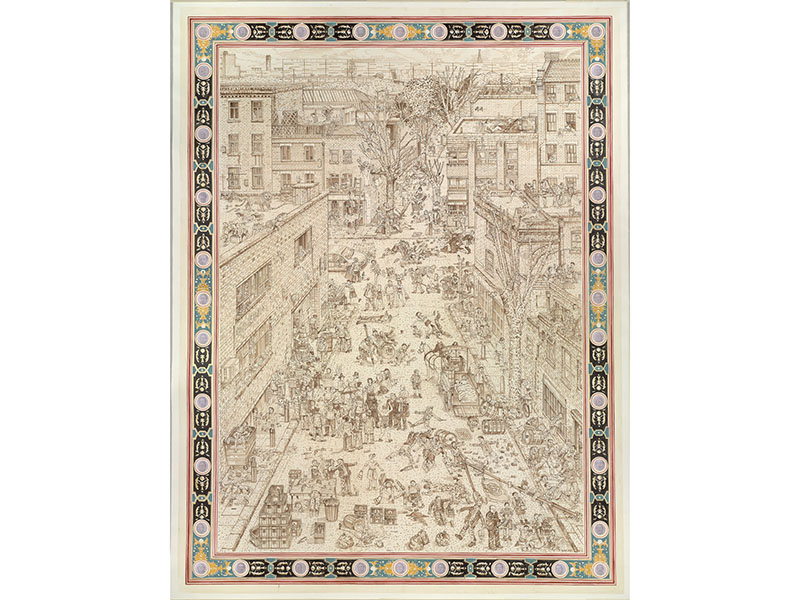 """The characters in Adam Dant's <i>British Drinking</i> are all shown enacting British synonyms for drunkenness, such as """"trashed"""", """"trolleyed"""", and """"drunk as lords""""."""
