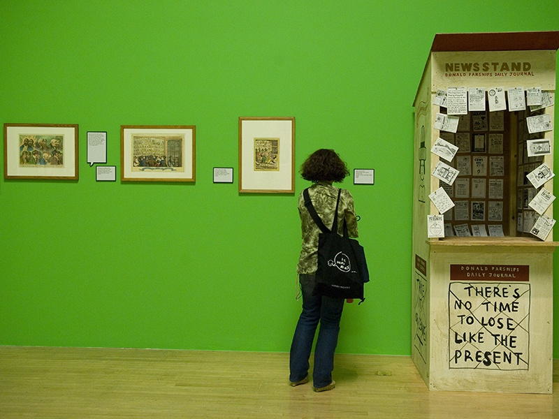 "Adam Dant's <i>Donald Parsnips Daily Journal Newsstand</i> featured in the 2010 exhibition ""Rude Britannia: British Comic Art"" at Tate Britain, London. Photograph: Shutterstock"