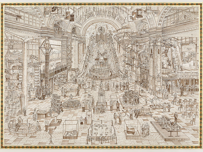 In <i>The Government Stable</i>, Adam Dant portrayed how the British public engaged with the democratic process during the general election of 2015.