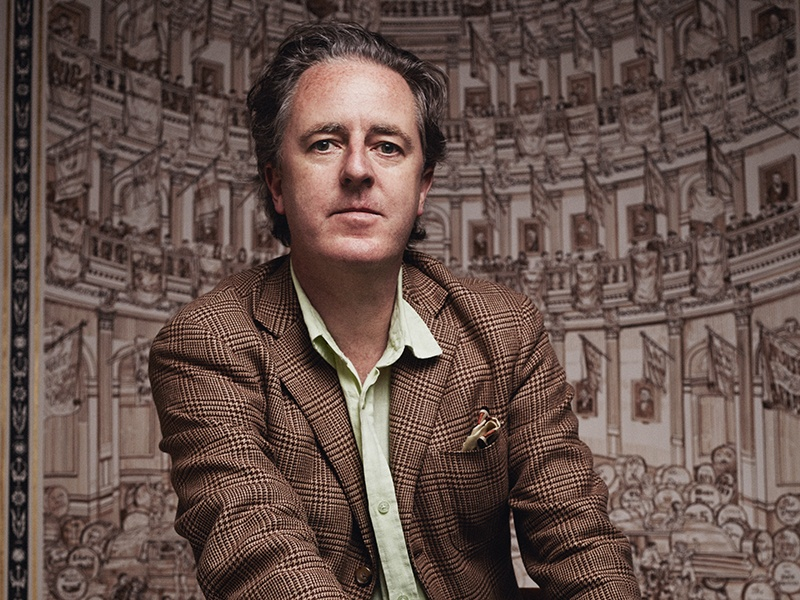 "In his work with Christie's, award-winning artist Adam Dant aims to ""identify the auction house as a conduit for, and unwitting witness to, the history of the world."" Photograph (and banner image): Rahel Weiss"