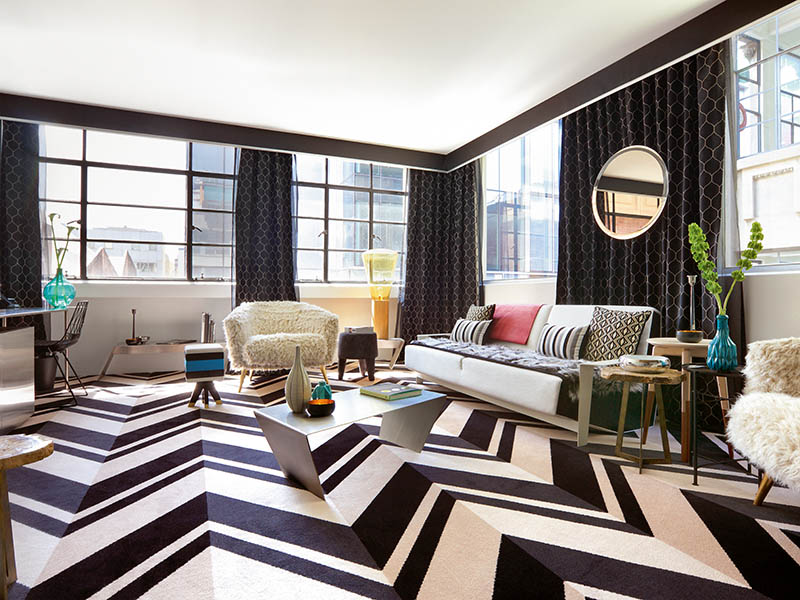 All furnishings at the redesigned Adelphi Hotel in Melbourne were either carefully selected or custom-made to complement the stark industrial elements, adding warmth, texture, and whimsy. Photograph: Shania Shegedyn