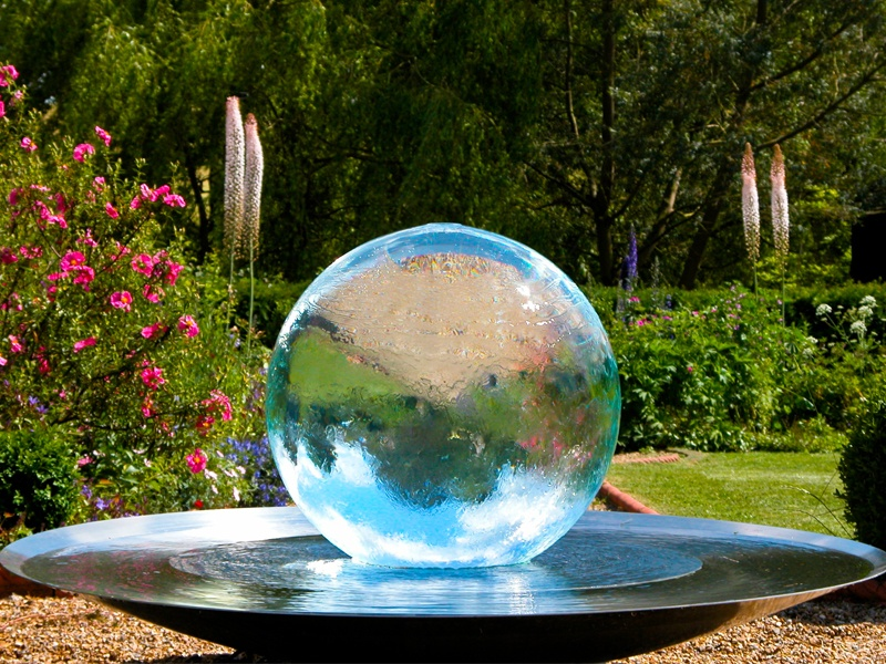The Aqualens was designed by Allison Armour in 1999 for a garden at the 2000 RHS Chelsea Flower Show. Part water feature, part artwork, it's now a popular addition to any garden.