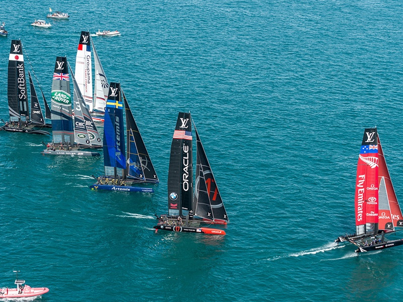 Excellent racing conditions are forecast for the America's Cup, the oldest trophy in international sport. Photograph: Ricardo Pinto/ACEA
