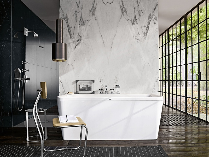 Windows Are Integral To This Design By Antonio Citterio For Axor,  Transforming The Bathroom From