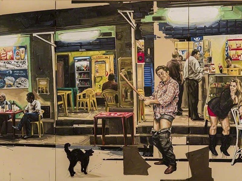 Fábio Baroli, <i>Não mexo mais em gato</i>, 2014, oil on canvas.