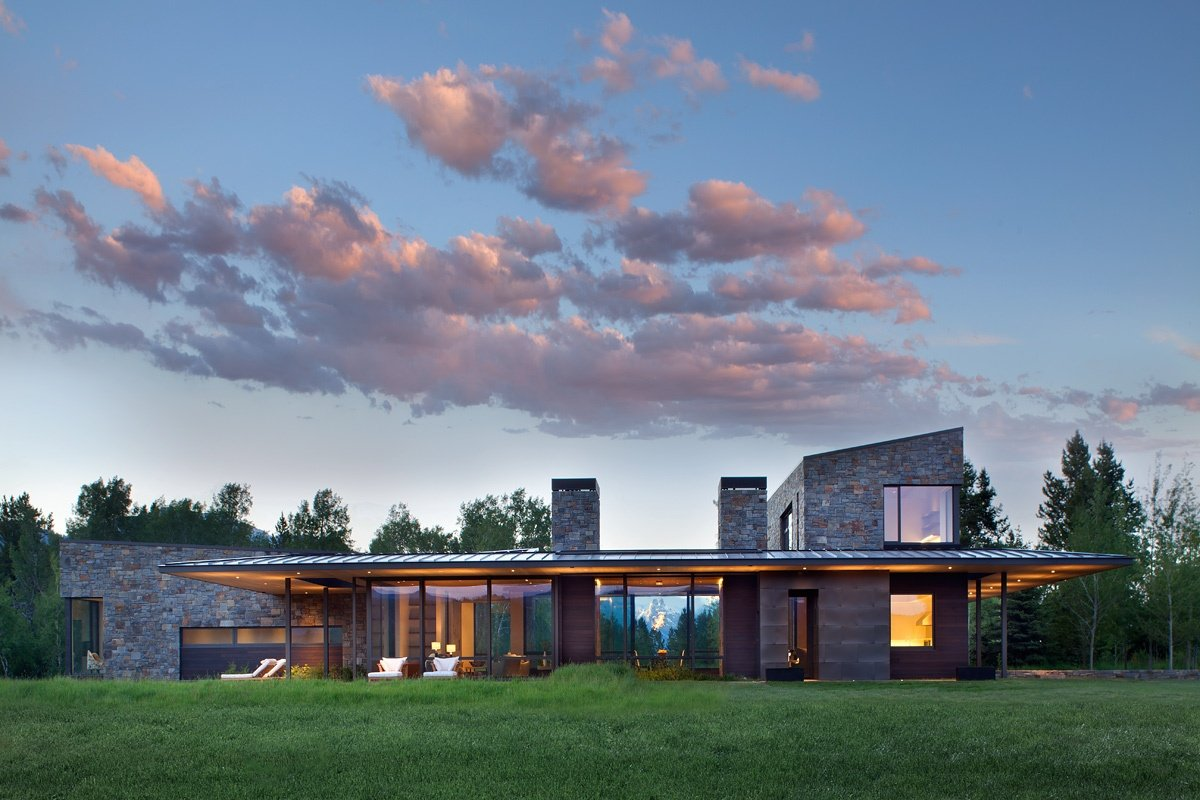 Aspensong is one of Jackson Hole's most distinctive contemporary homes, yet captures the iconic lifestyle of the great American West.