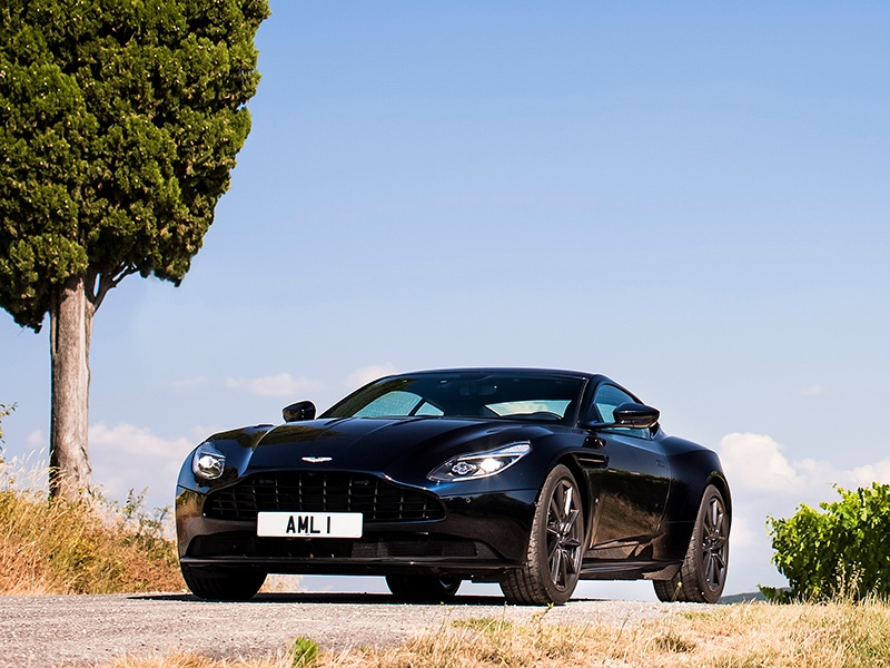 """Aston Martin's latest production road car, the DB11, shown in Ultramarine Black. The UK marque – often named the """"world's coolest brand"""" – is based in Warwickshire, in the West Midlands, England. Banner photograph: The Aston Martin DB11."""