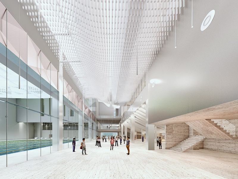 The Beijing Institute of Technology (BIT) Sports Center is under construction, due for completion in 2017. The new center will add more than 160,000 square feet of athletic space to the BIT campus and includes a 3,000-seat basketball stadium, a 10-lane swimming pool, a gymnasium, and rooms for martial arts and gymnastics.
