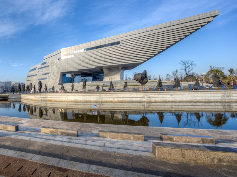 """The """"anti-gravity"""" design of the Museum for Qujing Culture in Yunnan, China, created by Atelier Alter and Hordor Design Group."""