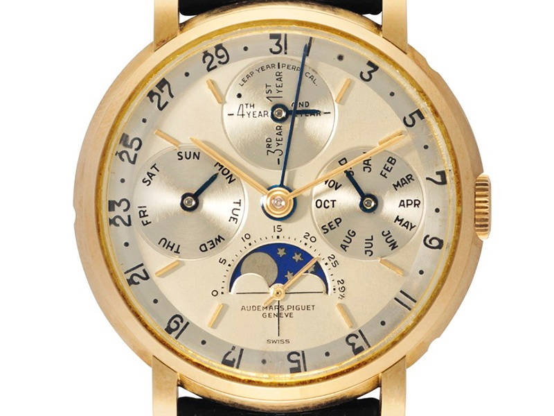An Audemars Piguet reference 5516 perpetual calendar from 1957 that sold for $545,000 in December 2015 at Christie's New York. Photograph: Christie's Images Ltd. 2016
