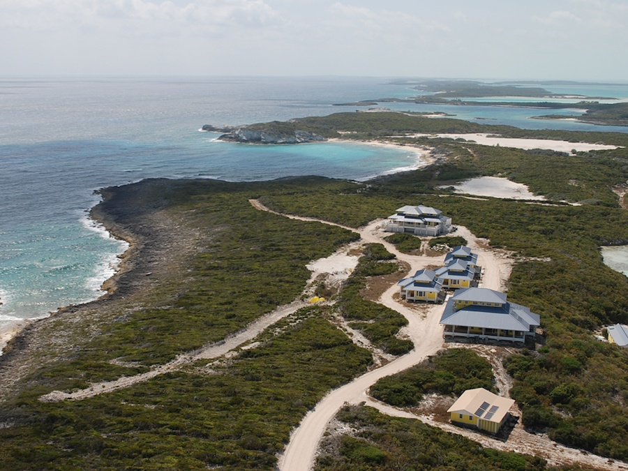 Secluded Cave Cay is a tropical treasure in the Exumas district of the Bahamas.