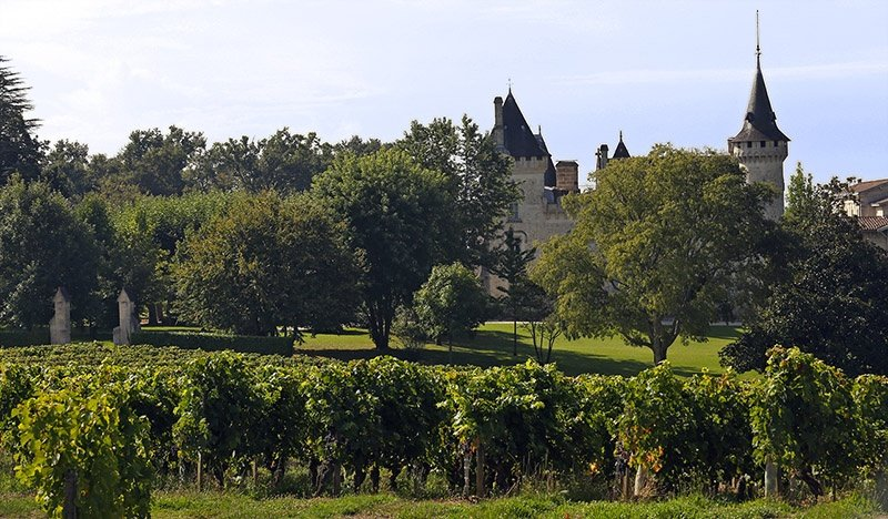 A magnificent 10-bedroom château as well as several cottages on the edge of the city of Bordeaux, with 60 hectares of vineyard, offered for sale by Maxwell-Storrie-Baynes