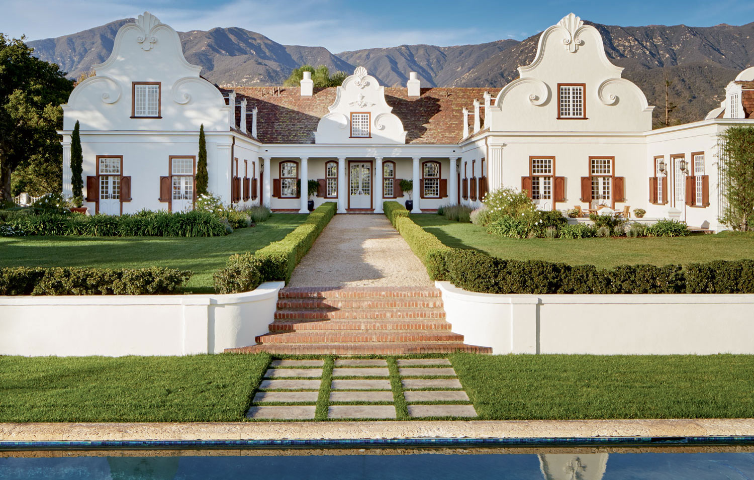 Constantia was designed by noted architect Ambrose Cramer as a testament to the architecture of South Africa's Western Cape.