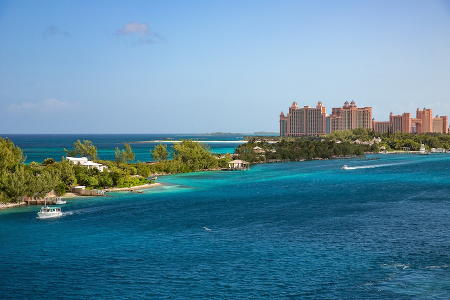 Known for its low-key atmosphere and calm waters, Paradise Island is just a quick jaunt from nearby Nassau.