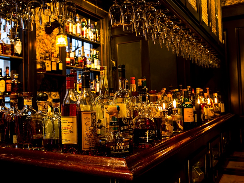Bar Jackalope at Seven Grand in Los Angeles has its own collection of 200 Scotch whiskies, bourbons, and ryes. Photograph: Leo Rivas