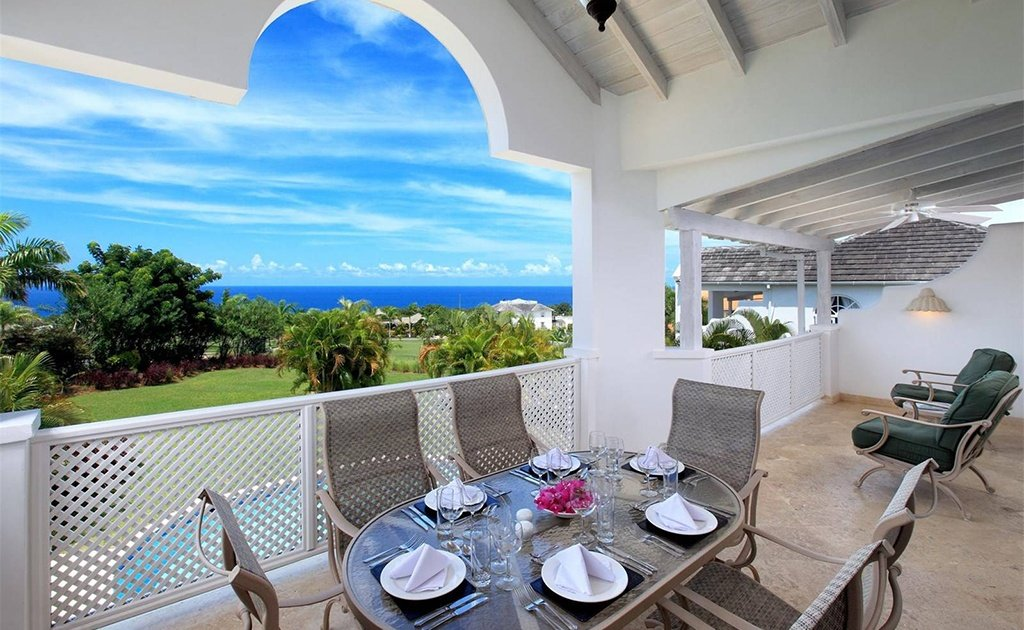 Local color is everywhere in this luxury villa overlooking the Caribbean Sea.