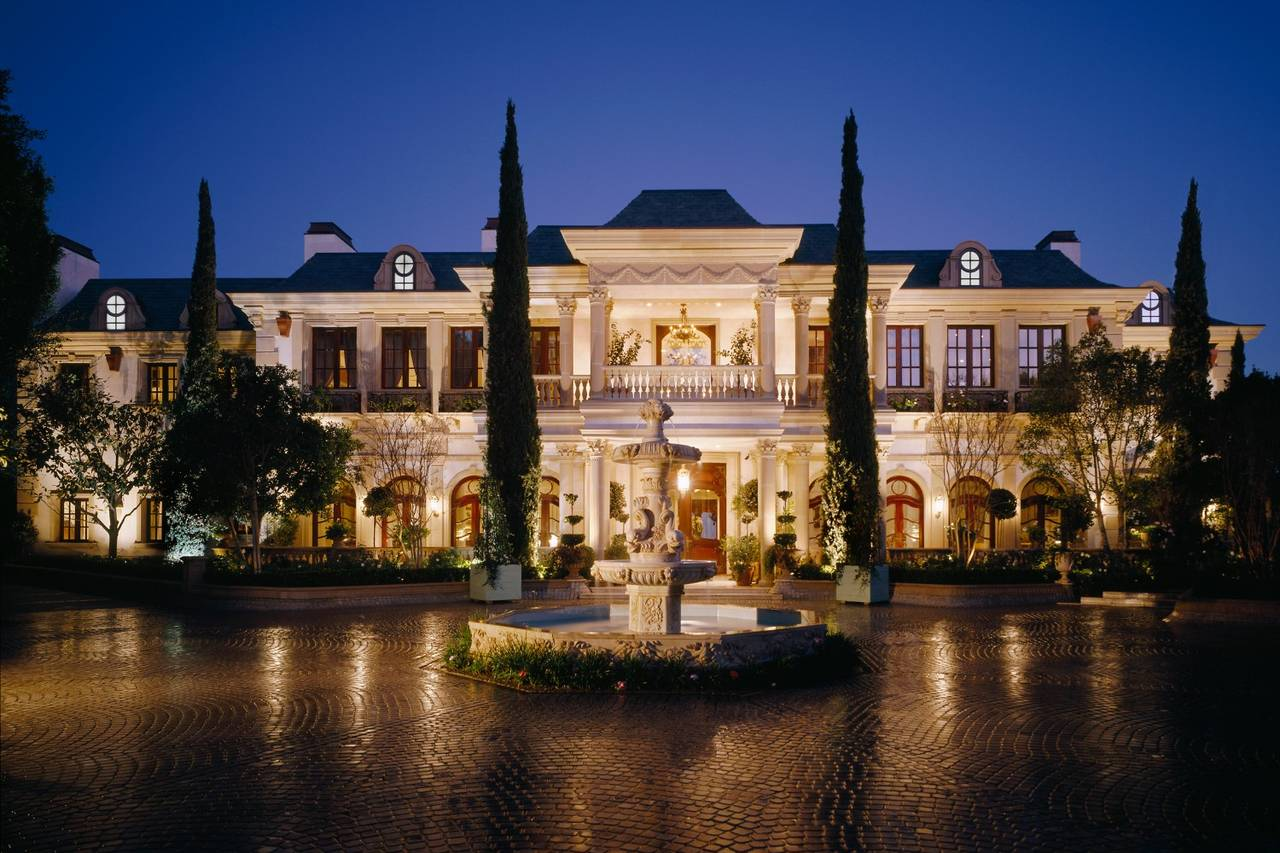 The French château-inspired estate, Le Belvédère, on Bel-Air's coveted Nimes Road