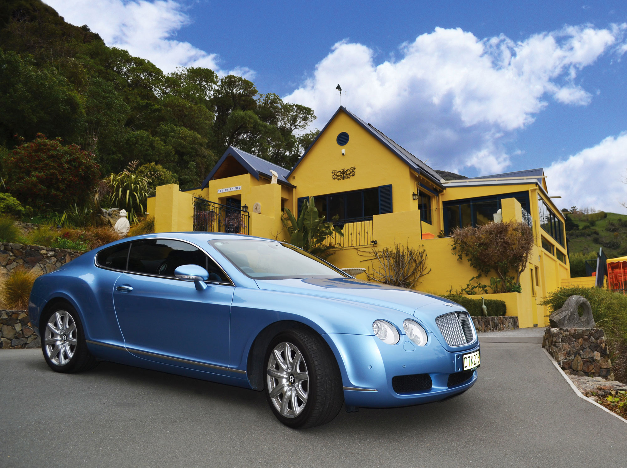 This turnkey estate in Akaroa on New Zealand's South Island has every amenity for the luxury connoisseur, from the artwork and custom furnishings, right down to the 2005 Bentley Continental GT.