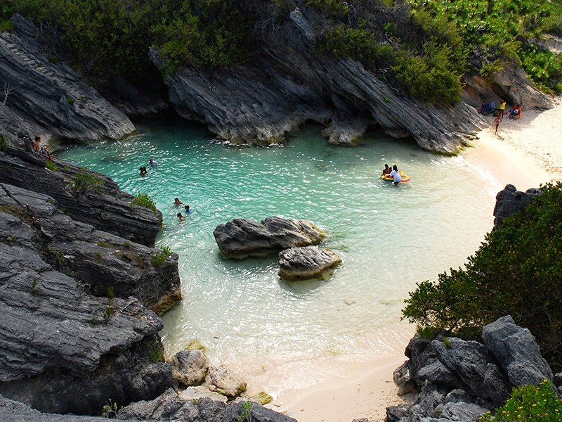 Bermuda is full of secluded beaches, such as Jobson's Cove. Photograph: Getty Images