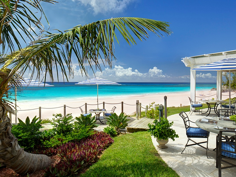 The Beach Club at Rosewood Tucker's Point is set on Bermuda's largest private beach, alongside two freshwater pools.