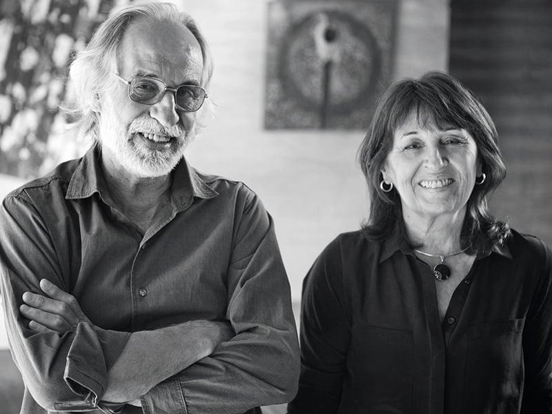 Partners in life and vision: Guillermo de Almeida and María Victoria Besonías of Estudio Besonías Almeida. Banner image: The Conjunto V+D plots in Mar Azul, Buenos Aires. Photograph: Inés Tanoira
