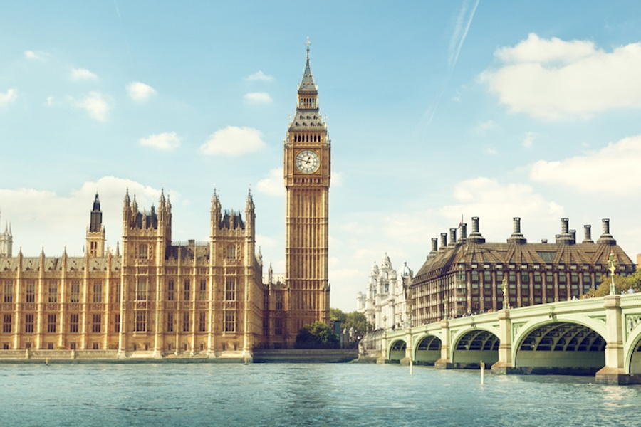 Elizabeth Tower at London's Houses of Parliament is perhaps London's best known Gothic-style icon, and it's a prime example of the Gothic Revival moment, completed in 1858.