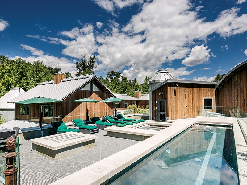 Bloom Ranch, a luxurious seven-bedroom home in Ketchum, Idaho, boasts a dedicated spa wing, among its many high-end amenities. $17,500,000. On the market with Sun Valley Real Estate, Christie's International Real Estate's exclusive affiliate in Ketchum.