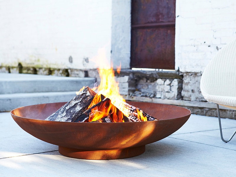 Stretch the season with Paloform's collection of fire pits. The design studio crafts simple vessels in architectural concrete, corten, and stainless steel. Banner image: Studio Job reinterprets traditional metal garden furniture for Seletti. Photograph: ARBOL house/ovohome.com