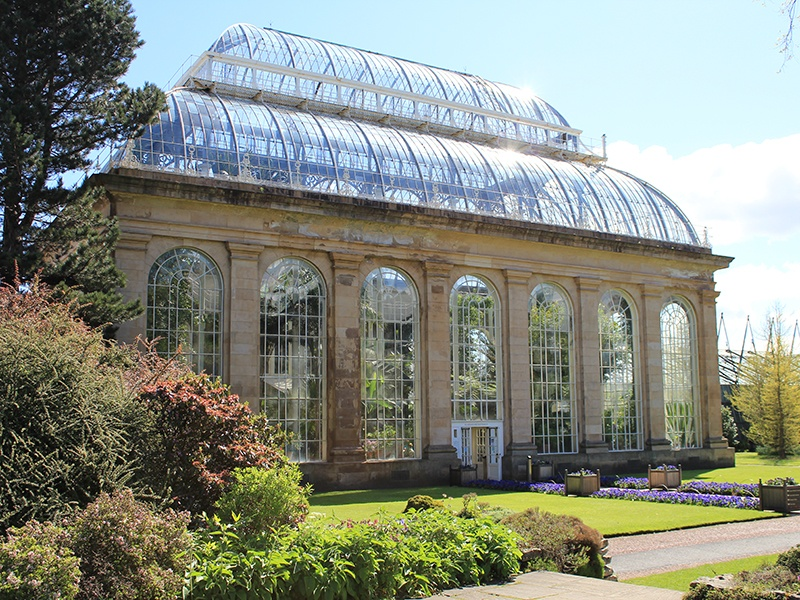 Royal Botanic Garden Edinburgh is a tranquil haven just one mile from the city center, and has more than 70 acres of landscaped grounds.