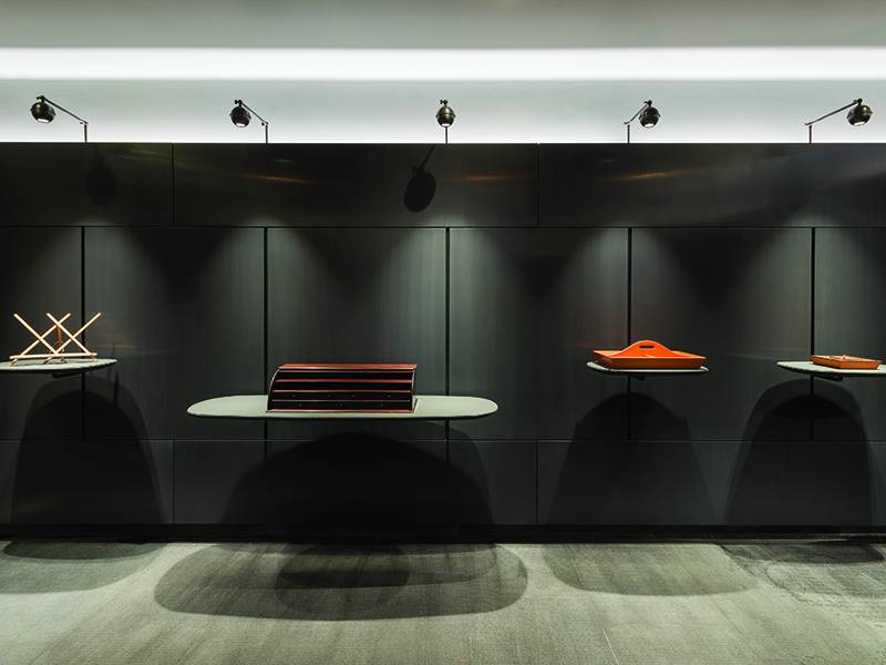 Bottega Ghianda's first Milan outpost, in the Brera district, is designed by Michele de Lucchi.