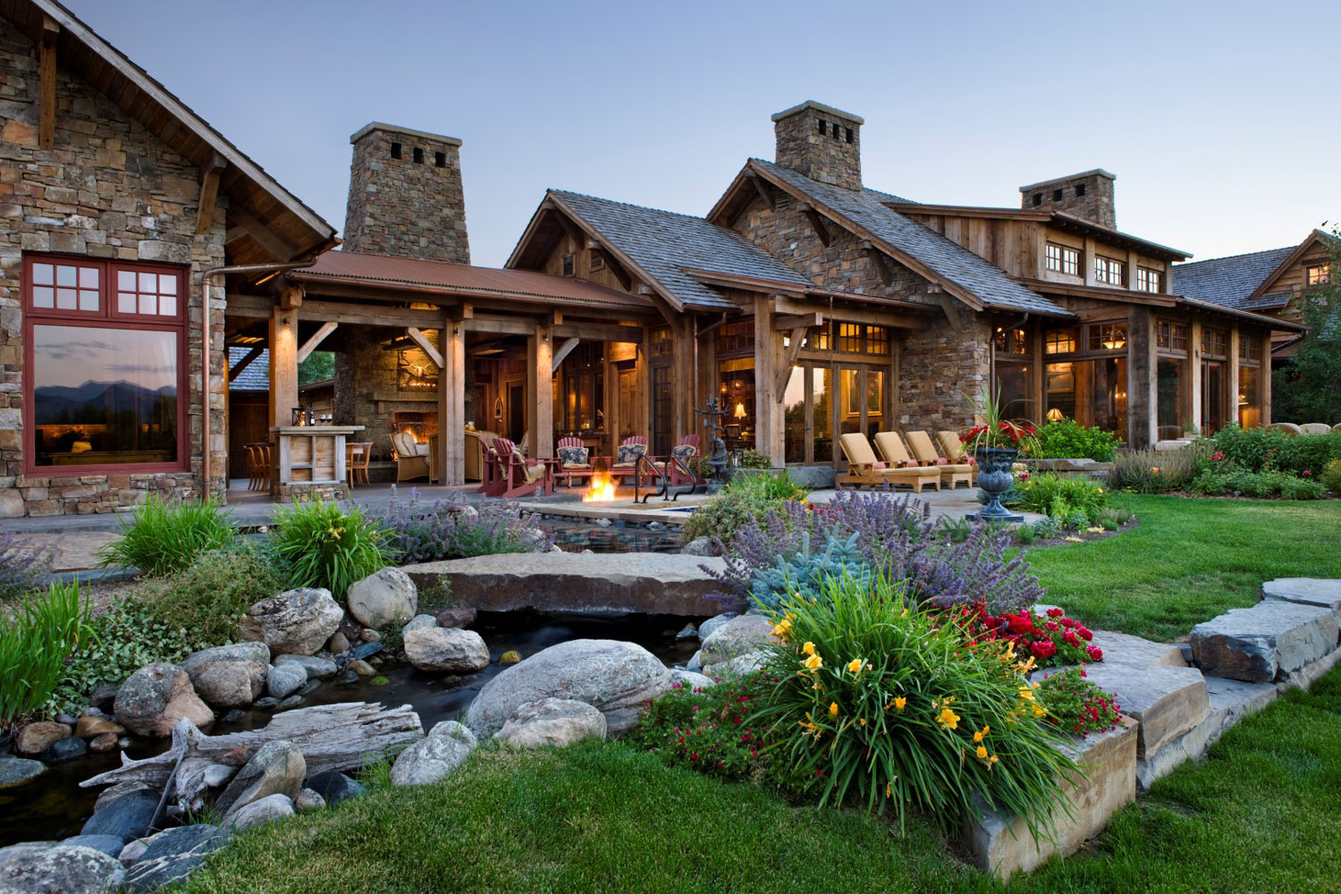 Award-winning architect Jerry Locati's holistic architecture comes to life in this luxury compound at the base of the Bridger Mountain in Bozeman, Montana.