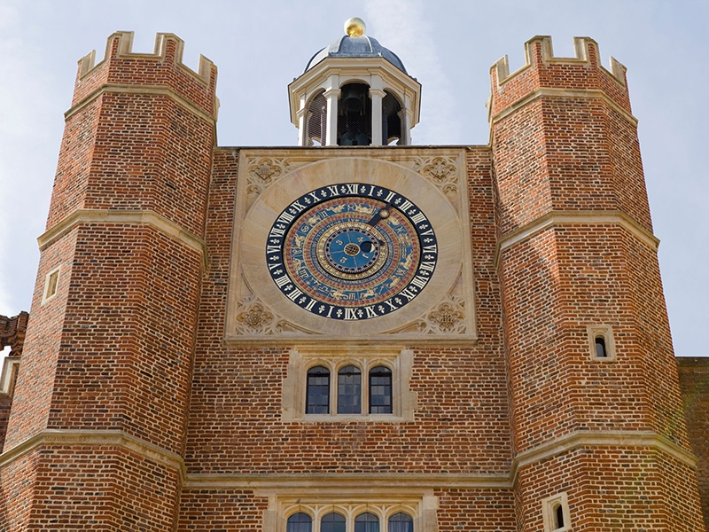 Sir Christopher Wren used a combination of red and brown brick and Portland stone for his rebuilding of Hampton Court Palace. Photograph: Alamy
