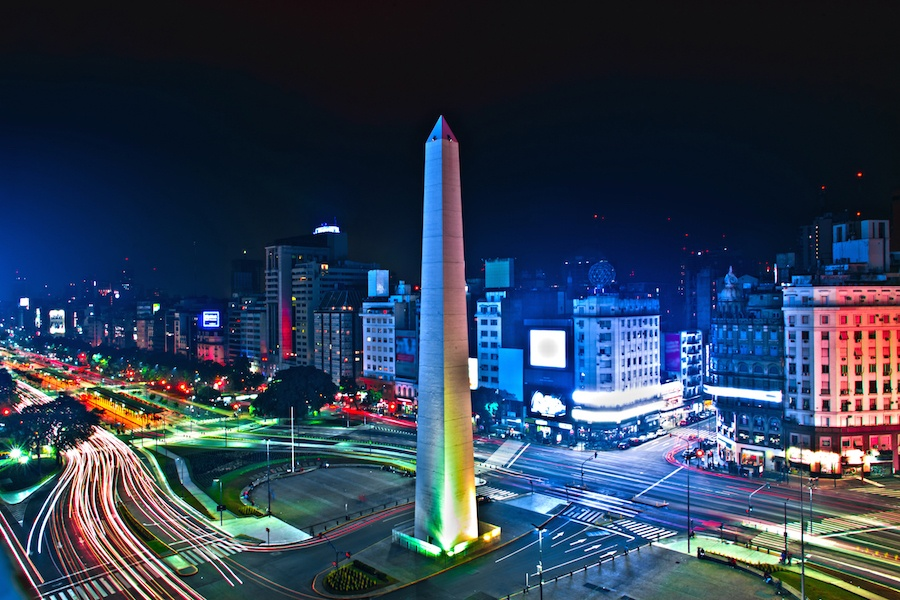 """In Buenos Aires, the theatrical heart of South America, the main corridor named Avenida Corrientes is rightly known as """"the street that never sleeps."""""""