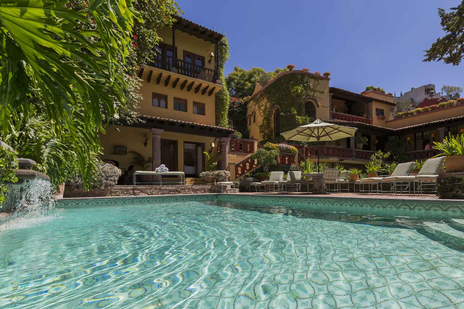 <b>Guanajuato, Mexico</b><br/><i>8 Bedrooms, 9,278 sq. ft.</i><br/>Hacienda-like estate within the walls of its own park