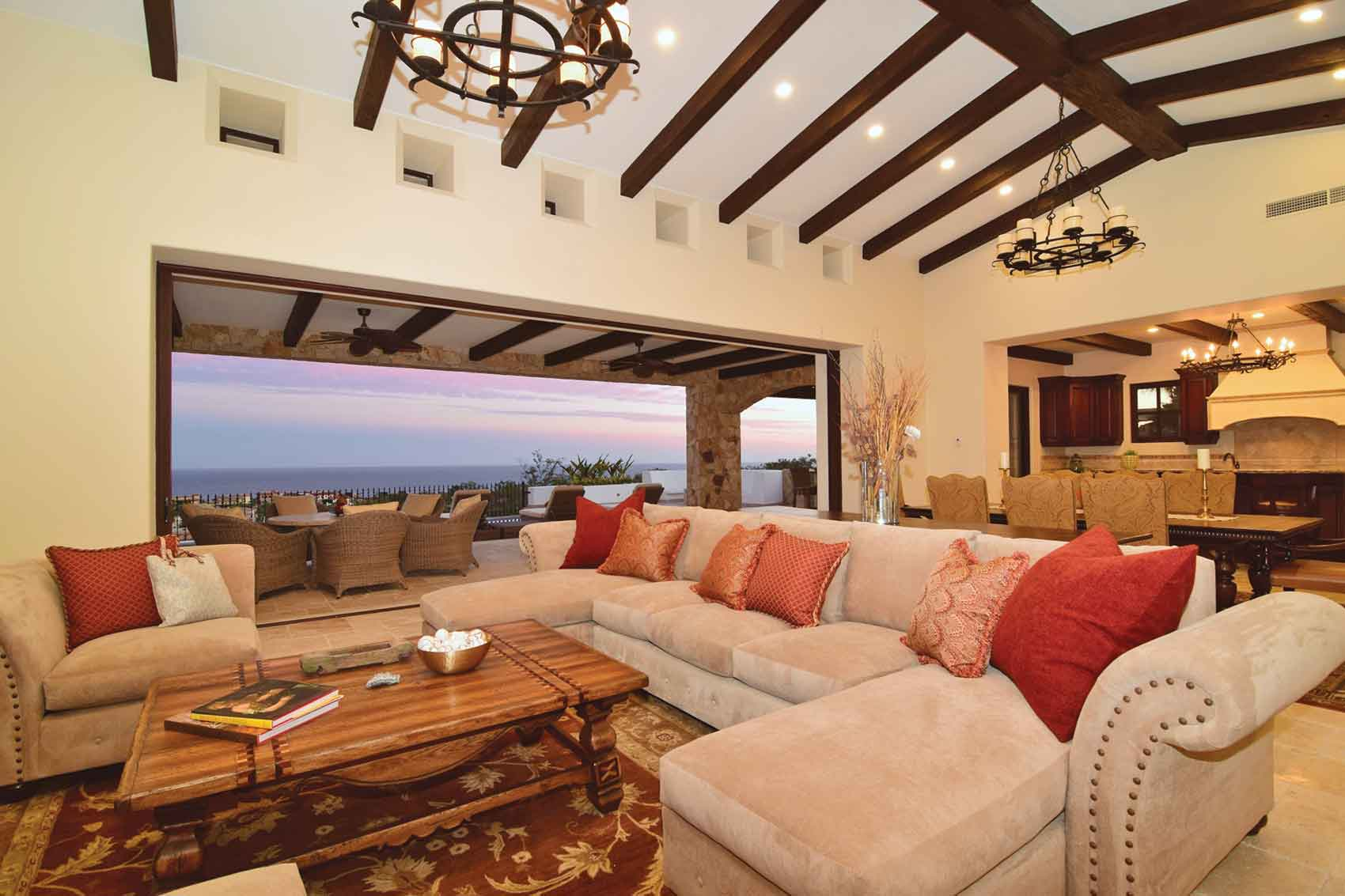 Casa Kay in San Juan del Cabo, Mexico,  welcomes the outdoors inside, and welcomes the sun's energy via solar panels.