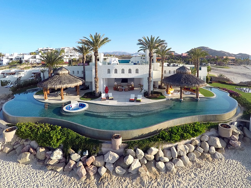 Designed by renowned architect Jorge Torres with interiors by Robert Couturier, The Ty Warner Mansion at Las Ventanas offers a private chef and chauffeured car service.
