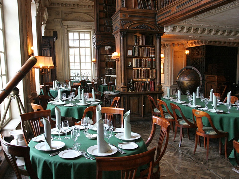 The Baroque-style Library Hall at Café Pushkin in Moscow, Russia. Photograph: Getty Images