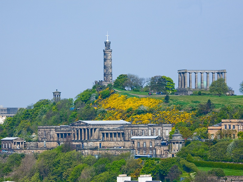 Calton Hill is a hub for many Edinburgh Festival Fringe events and provides the perfect spot to watch the finale, a spectacular firework display.