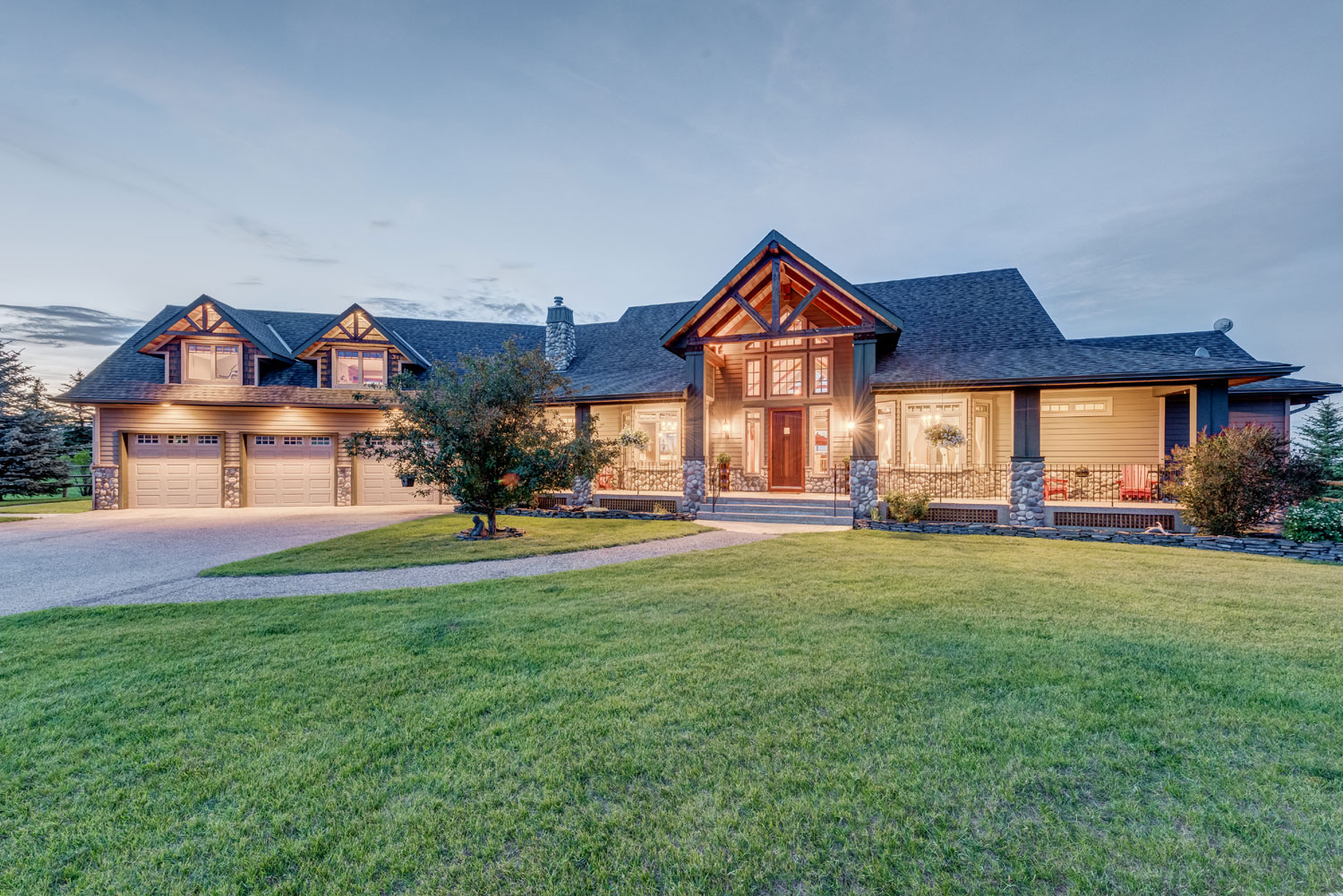 This exquisite estate, only a few minutes from Calgary, was designed for the comfort of human, horse, and canine residents.