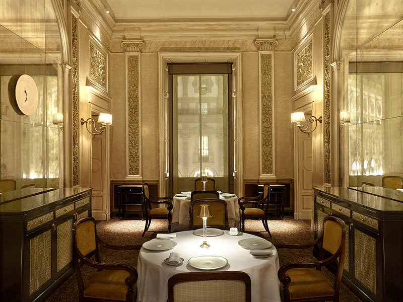 Recalling the Gilded Age, Cracco is a four-story culinary destination modeled on the grand cafés of Milan's Galleria Vittorio Emanuele II. Inside is a café, restaurant, wine bar, and cellar.