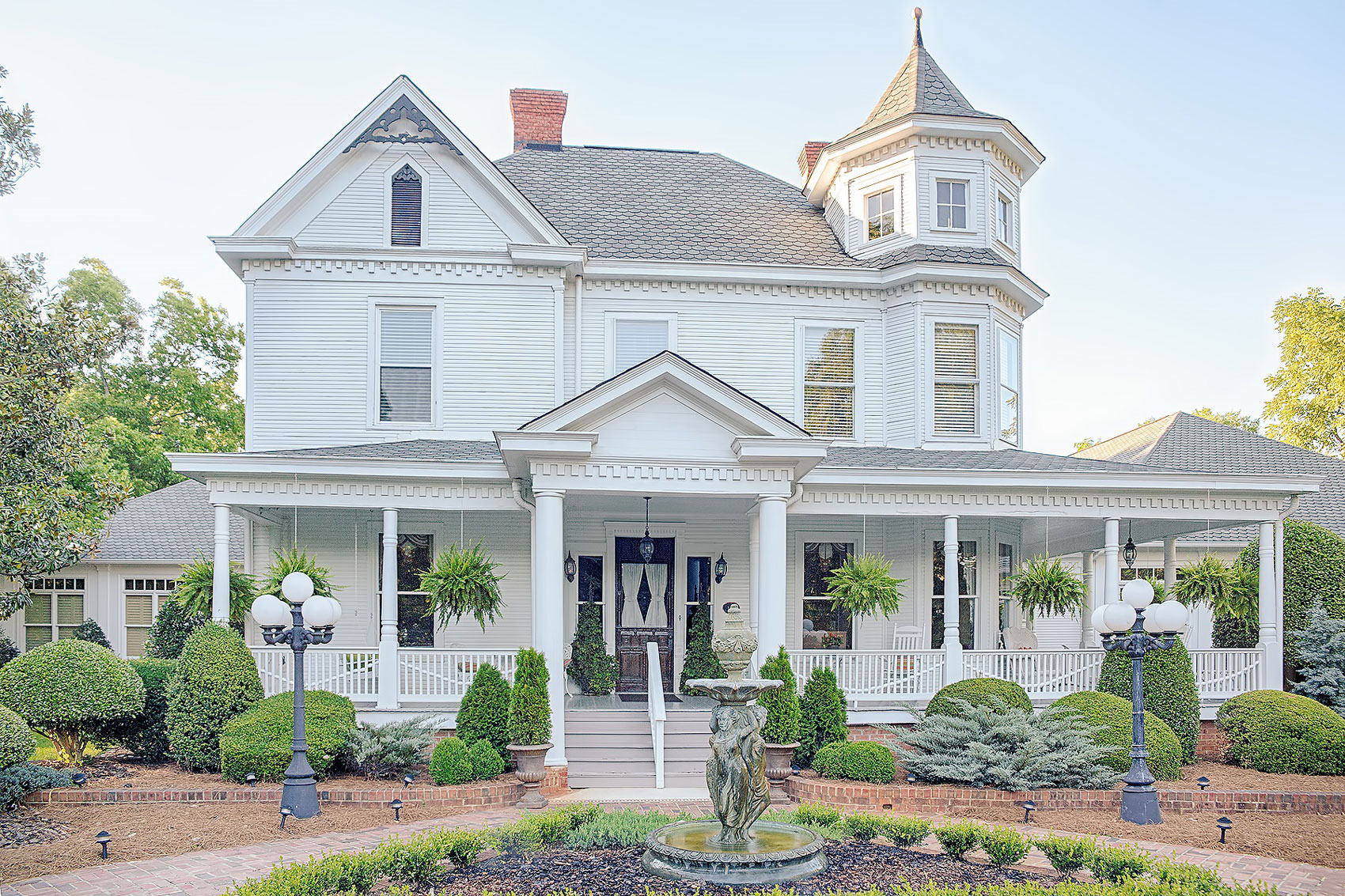 Designated a historic landmark, the Victorian Crow's Nest in Monroe, North Carolina, built in 1884, is exemplary of the late Queen Anne Revival style.