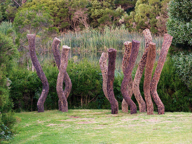 The prize-winning <i>The Bush of Ghosts</i>, by sculptor Ben Carroll, was conceived for the Montalto Vineyard in Victoria, Australia. Photograph: Will Salter